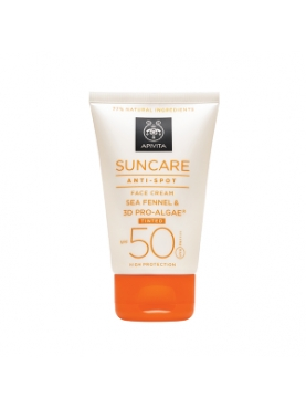 APIVITA SUN ANTI-SPOT COLOR SPF 50+ FACE WATER