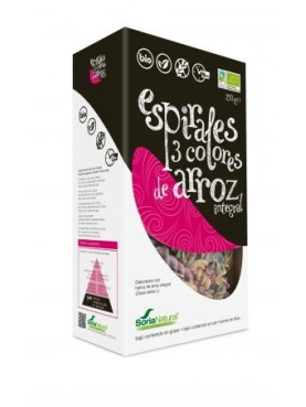 ESPIRALES 3 COLORES ARROZ INTEGRAL BIO 250 G