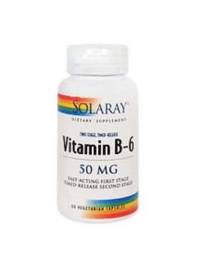 SOLARAY VITAMINA B-6 50 MG 60 CÁPSULAS VEGETALES