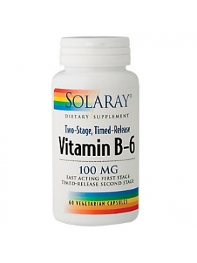 SOLARAY VITAMINA  B-6 100 MG CÁPSULAS VEGETALES