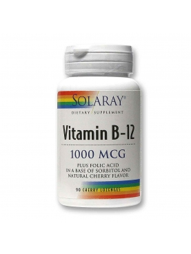 SOLARAY VITAMINA B-12 1000 MG 90 COMPRIMIDO MAST