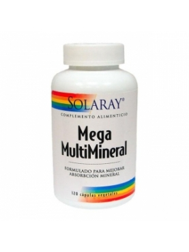 SOLARAY MEGA MULTIMINERAL 120 CAPS