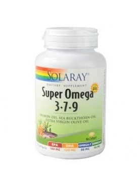 SOLARAY SUPER OMEGA 3.7.9 120 CAPS BLANDA