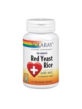 SOLARAY RED YEAST RICE 600 MG 45 CAP