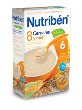 NUTRIBÉN 8 CER M FRUTAS 600 G