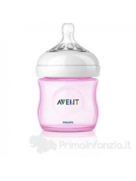 BIBERON PP NATURAL PHILIPS AVENT 125 ML ROSA