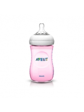 BIBERON PP NATURAL PHILIPS AVENT 260 ML ROSA