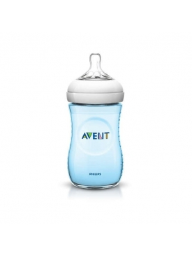 BIBERON PP NATURAL PHILIPS AVENT 260 ML AZUL