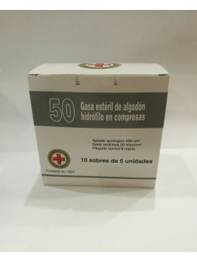 GASA ESTERIL ALGODÓN HIDROFILO COMPRESAS GRAN CR