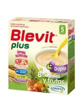 BLEVIT PLUS DUP 8 CER FRUTAS 600 G