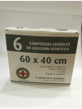 GASA ESTÉRIL ALGODÓN HIDROFILO COMPRESAS GRAN CR