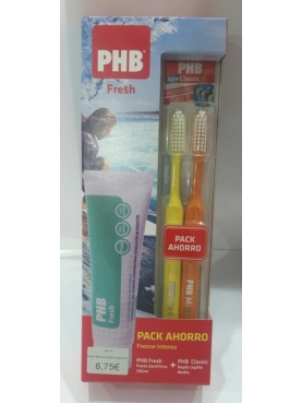 PHB FRESH  PASTA DENTAL + CEPILLO DUPLO CLASSIC